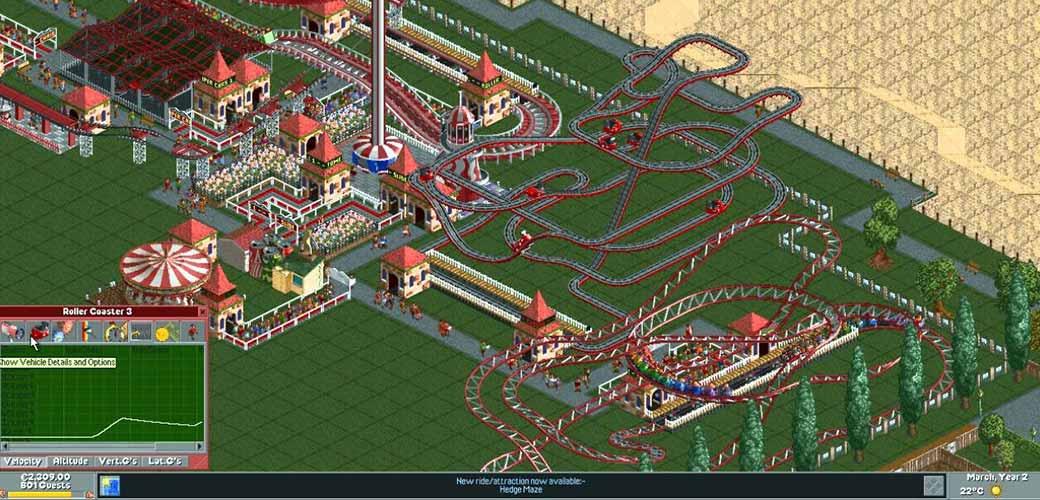 بازی RollerCoaster Tycoon